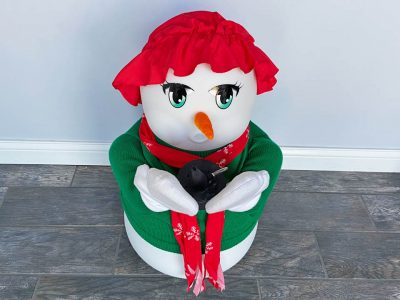 Mr Mrs Frosty the Snowman Snow Making Machine Rental Cincinnati Ohio