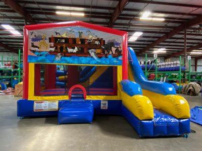 Noah's Ark Playhouse Inflatable Bounce House and Slide Combo Rental Cincinnati Ohio
