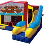 Noah's Ark Playhouse Inflatable Bounce House and Slide Combo Rental Cincinnati Ohio