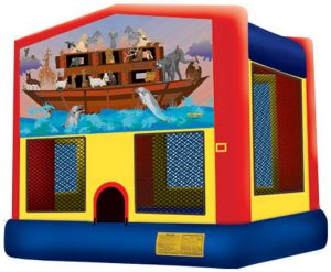 Panel Noah's Ark Inflatable Bounce House Castle Bounce Slide Combo Rental Cincinnati Ohio
