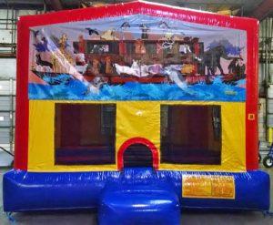 Panel Noah's Ark Inflatable Bounce House Castle Bounce Slide Combo Rental Cincinnati Ohio
