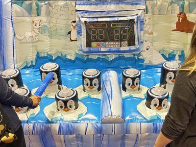 Winter Penguin Whack-A-Mole Arcade Game Party Rental Cincinnati Ohio