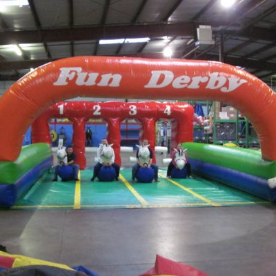 Pony Downs - Inflatable Horse Race Pony Hops Track Rental Cincinnati Ohio