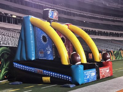 Quarterback Blitz Football Inflatable Game Rental Cincinnati Ohio