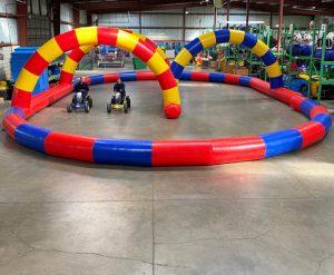 Inflatable Race Track Rental with Competition Race Karts_Cincinnati Ohio
