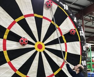 Retrieval Tool for Giant Inflatable Soccer Kick Darts Bullseye Velcro Arrow Rental Cincinnati Ohio
