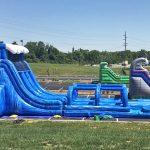 Riptide Inflatable Water Slide Dual Lane with Inflatable slip n slide rental cincinnati ohio