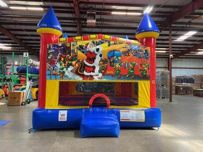 Santa Claus Custom Castle Bounce House Renal Cincinnati Ohio