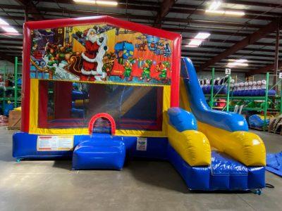 Santa Claus Playhouse Inflatable Bounce House and Slide Combo Rental Cincinnati Ohio