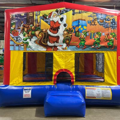 Santa Claus Playhouse - Customize-able Inflatable Bounce House Rental Cincinnati Ohio