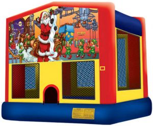 Santa Claus Christmas Bounce House Combo Rental