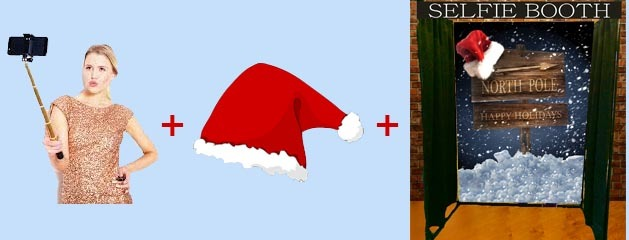 SELFIE BOOTH NORTH POLE BACKGROUND added to inventory!