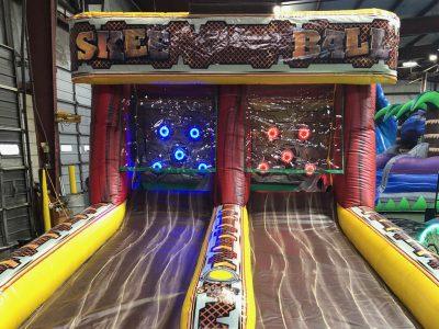 Inflatable skee ball arcade game rental with scoring, Cincinnati, Ohio