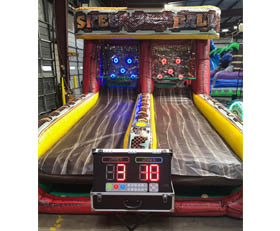 Inflatable skee ball arcade game rental with scoring, Cincinnati, Ohio