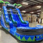 15' Blue Crush Inflatable Water Slide - Wet or Dry Slide - Cincinnati, Ohio