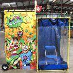 Indoor Dunk Tank Splash Attachment for Bucket Dump Game Rental Cincinnati Ohio