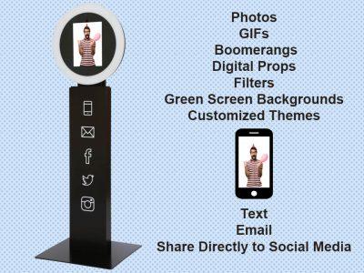 Social Media Photo Booth with Green Screen Rental Cincinnati Ohio