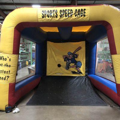 Baseball Sports Speed Cage Inflatable Speed Pitch with Radar Rental Cincinnati Ohio