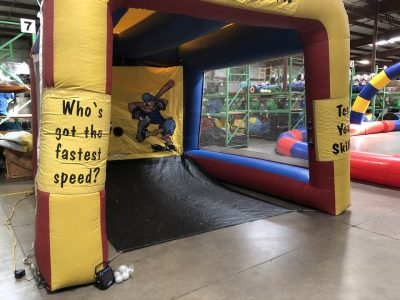 Baseball Sports Speed Cage Inflatable Speed Pitch with Radar Rental Cincinnati Ohio