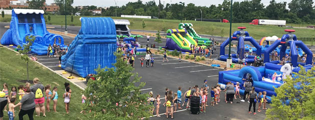 Inflatable Water Slide and Water Game Rentals for Summer in Cincinnati, Ohio