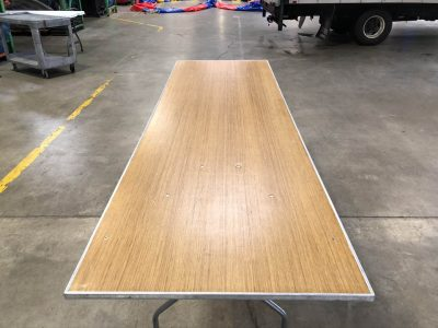 8' Rectangle Wood Banquet Table Rental Cincinnati Ohio
