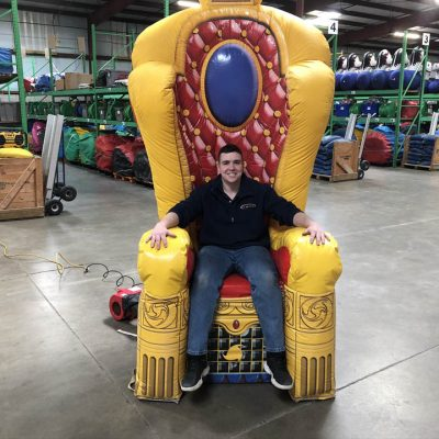 Inflatable Throne Chair for Birthdays Prom Rental Cincinnati