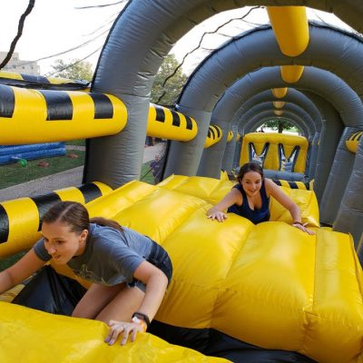 Toxic Drop Inflatable Obstacle Course Rental Cincinnati Ohio