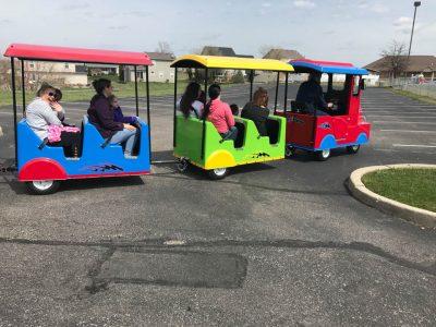 Electric Trackless Train Rental with Engineer Cincinnati Ohio Northern Kentucky