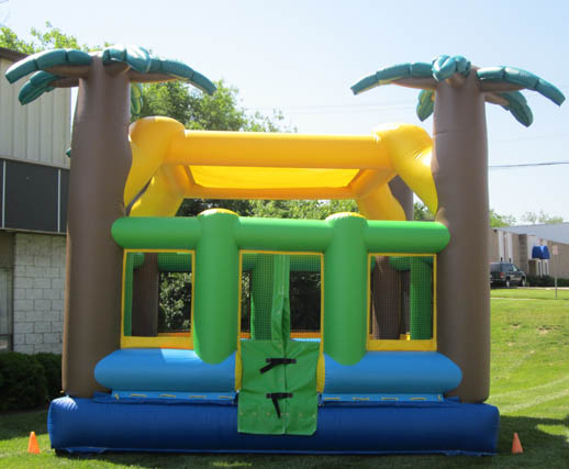 Tropical Teen Adult Inflatable Bounce House Rental Cincinnati A 1 Amusement Party Rentals Inflatables Bouncehouse Games Ohio Kentucky