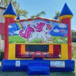 Rainbow Unicorn Castle Bounce House _Slide Combo_Rental Cincinnati