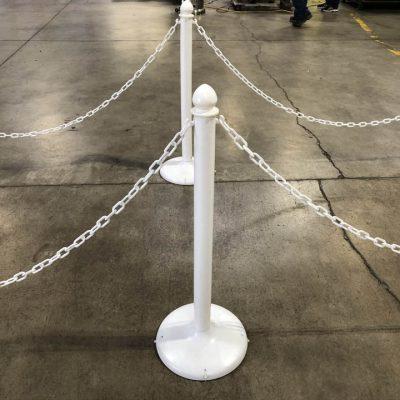 White Plastic Chain & Stanchion Post Rental Cincinnati Ohio