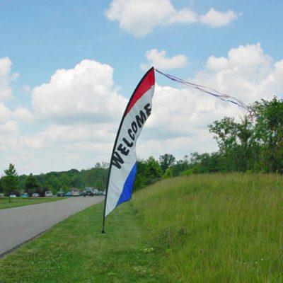 Wind Feather Sign - Welcome Rental Cincinnati Ohio