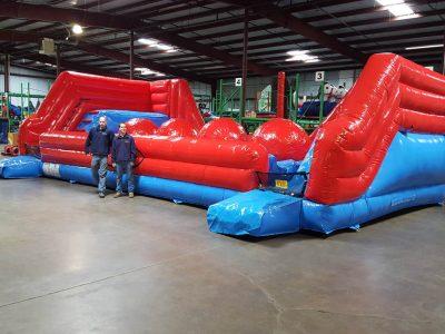 Big Baller Wipeout Extreme Ball Run Inflatable Ninja Obstacle Course Rental Cincinnati Ohio