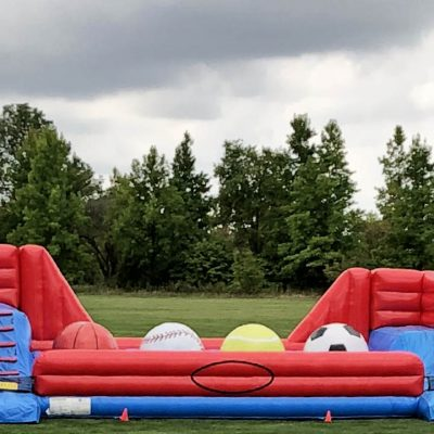 Big Baller Wipeout Extreme Ball Run Inflatable Ninja Obstacle Course Rental Cincinnati Ohio