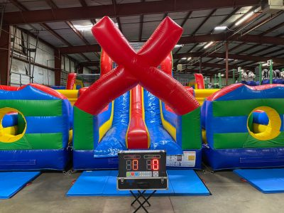 X Factor Inflatable Obstacle Course With Interactive Light Kit Rental Cincinnati Ohio