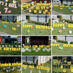 Giant Yard Card Letters Greetings Birthday Sign Parry Rental Cincinnati Ohio