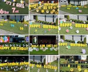 Giant Yard Card Letters Greetings Birthday Sign Parry Rental Cincinnati Ohio