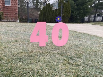 40th birthday Custom Yard Cards & Signs Rentals Cincinnati Ohio