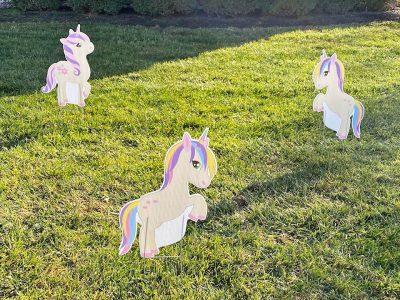 Rainbows & Unicorns Birthday Yard Cards & Signs Rentals Cincinnati Ohio