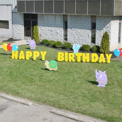 Zoo Animal Birthday Yard Cards & Signs Rentals Cincinnati Ohio