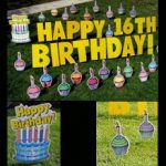 Yard Card - Birthday Cupcakes Lawn Greeting Rental Cincinnati Ohio