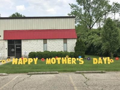 Birthday Mother's Day flowers Yard Cards & Signs Rentals Cincinnati Ohio