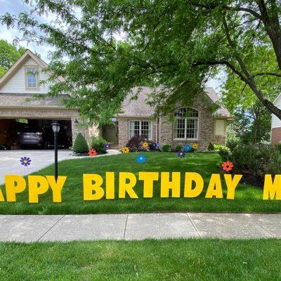 Birthday Mother's Day flowers Yard Cards & Signs Rentals Cincinnati Ohio