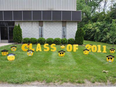 Graduation Yard Cards & Signs Rentals Cincinnati Ohio