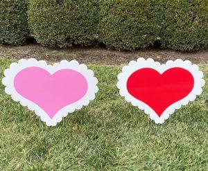 Hearts Yard Greeting Lawn Sign Rental Cincinnati Ohio