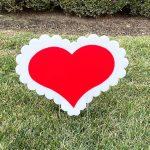 Yard Card - Hearts Love Anniversary Lawn Greeting Rental Cincinnati Ohio