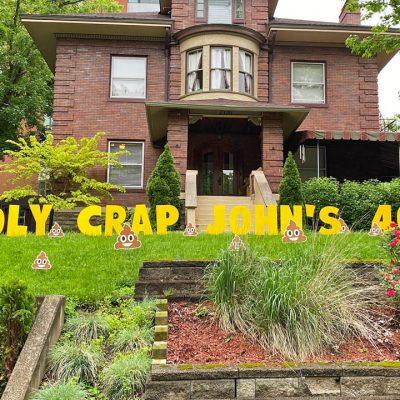 Holy Crap Poop Emojis Birthday Yard Cards & Signs Rentals Cincinnati Ohio