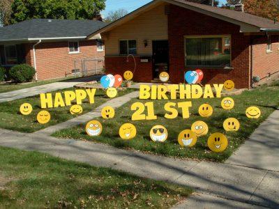 21st birthday Yard Cards & Signs Rentals Cincinnati Ohio