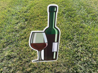 21st birthday cheers Wine Glasses & Bottles Yard Cards & Signs Rentals Cincinnati Ohio