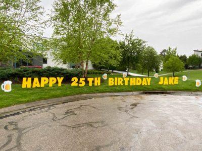 21st birthday cheers beer mugs Yard Cards & Signs Rentals Cincinnati Ohio